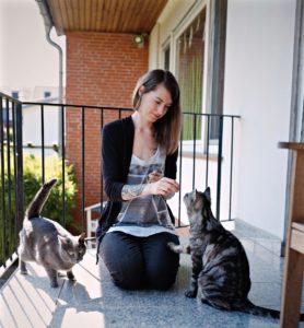Sakura und ihre Katzen